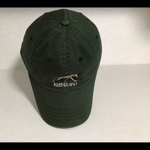 Green cotton Keeneland cap hat adult